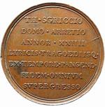 Arezzo Medaglia 1816 Th. Sgriccio, musicista ...