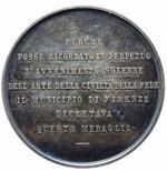 Firenze Medaglia 1887, Scoprimento della ...
