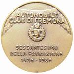 Cremona Medaglia 1986, Automobile Club di ...