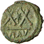 BISANZIO Focas (602-610) Follis (Ravenna) ...