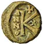 BISANZIO Eraclio (610-641) Mezzo follis ...