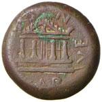 Augusto (27 a.C.-14) AE (Caralis) Teste ...