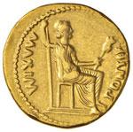 Tiberio (14-37) Aureo – Testa laureata a ...