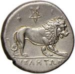 LUCANIA Velia - Statere (300-280 a.C.) Testa ...