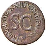 Tiberio (14-37) Asse – Testa di Augusto a ...
