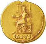 Nerone (54-68) Aureo – Testa laureata a d. ...