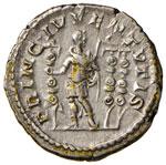 Diadumeniano (217-218) Denario - Busto a d. ...