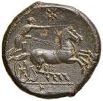 SICILIA Icetas (288-279 a.C.)  AE - Testa di ...