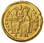 Arcadio (395-402) Solido (Mediolanum) Busto ...