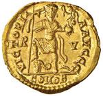 Valentiniano III (425-455) Solido (Ravenna) ...