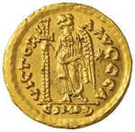 Ostrogoti in Italia, Monetazione a nome di ...