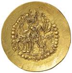 KUSHAN - SASSANIDE Varahran (335-370) Dinar ...