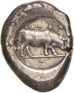 LUCANIA Poseidonia - Statere (480-400 a.C.) ...