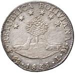BOLIVIA 8 Soles 1838 - KM 97 AG (g 27,12) ...