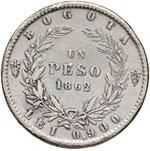 COLOMBIA Peso 1862 - KM 139.1 AG (g 24,82) ...