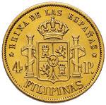FILIPPINE 4 Pesos 1868 - Fr. 1 AU (g 6,77)