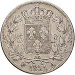 FRANCIA Luigi XVIII (1815-1824) 5 Franchi ...