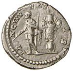 Geta (211-215) Denario - Busto laureato a d. ...