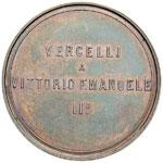 Vittorio Emanuele II Medaglia 1887 Vercelli ...