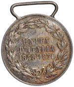 Umberto I (1878-1900) Medaglia Unità ...