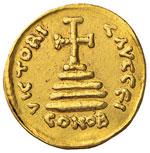 Giustiniano I (527-565) Solido falso moderno ...