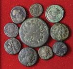 Lotto di 11 monete antiche varie. Non si ...