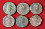 Lotto di sei bronzi romani imperiali. Non si ...
