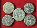 Lotto di sei bronzi romani repubblicani. Non ...