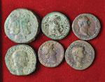 Lotto di sei bronzi romani. Non si accettano ...