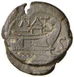 Pinaria - Semisse (155 a.C.) Testa di ...