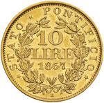 Pio IX (1846-1878) 10 Lire 1867 A. XXII - ...