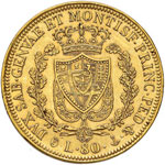 Carlo Felice (1821-1831) 80 Lire 1829 G - ...
