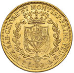 Carlo Felice (1821-1831) 80 Lire 1830 G - ...