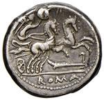 Cipia – M. Cipius M. f. - Denario (115-114 ...