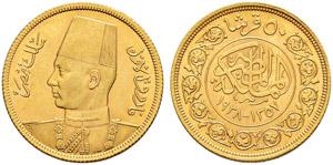 ÄGYPTEN - Farouk, 1937-1952 - 50 Piastres ...