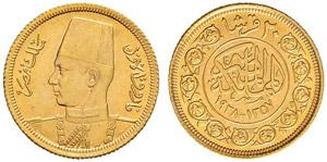 ÄGYPTEN - Farouk, 1937-1952 - 20 Piastres ...