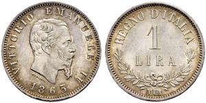 Vittorio Emanuele II. 1859-1878. 1 Lira ...