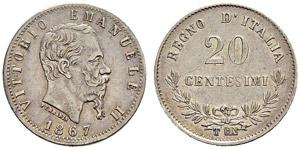 Vittorio Emanuele II. 1859-1878. 20 ...