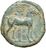 SICILIA Siculo-puniche (300 circa a.C.)  AE ...