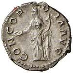 Sabina (moglie di Adriano)  Denario - Busto ...
