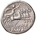 ROMA REPUBBLICA Aburia - Denario (132 a.C.) ...