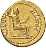 Tiberio (14-37) Aureo - Testa laureata a d. ...