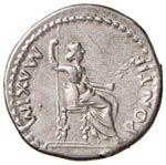 Tiberio (14-37) Denario (Lugdunum) Testa ...