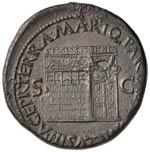 Nerone (54-68) Sesterzio (Lugdunum) Testa ...