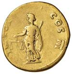 Vespasiano (69-79) Aureo (Lugdunum) Testa ...
