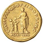 Traiano (98-117) Aureo - Busto laureato a d. ...