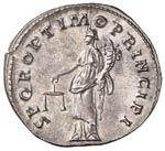 Traiano (98-117) Denario - Busto laureato a ...