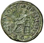 Traiano (98-117) Dupondio - Busto radiato a ...