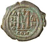 BISANZIO Maurizio Tiberio (582-602) Follis - ...