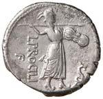 ROMA REPUBBLICA Procilia - Denario (80 a.C.) ...